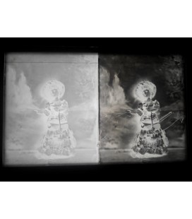 LEFT: Standard ambrotype / RIGHT: after intensifying (already as negative)