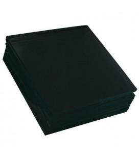 Black glass plate - 9x12 cm