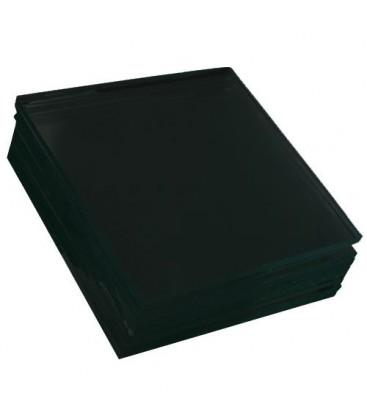 Black glass plate - 18x24 cm