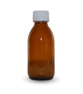 Skleněná láhev hnědá s uzávěrem 250ml