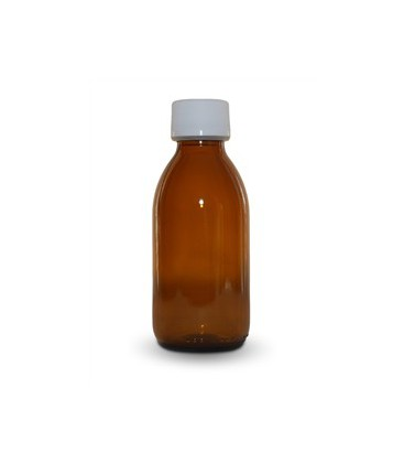 Glass bottle brown with stopper 250 ml